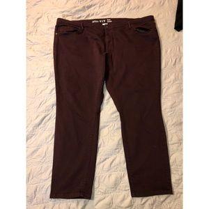 AVA & VIV Maroon Skinny Jeans. Size 26